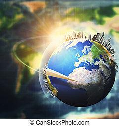 rozwój, pojęcie, globalny, tła, środowiskowy, do podtrzymania