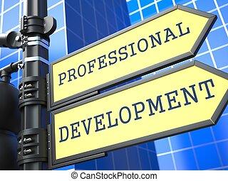 rozwój, profesjonalny, concept., poznaczcie., handlowy