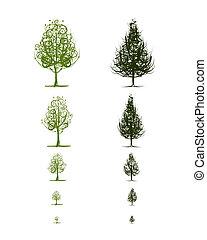 rozwój, projektować, gradacja, drzewo, twój