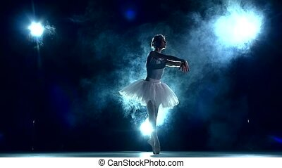 ruch, balerina, blue., powolny, klasa