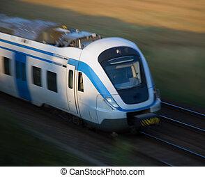 ruch, pociąg, commuter
