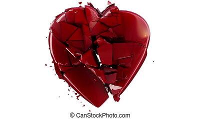 ruch, serce, wybuch, powolny