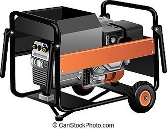 ruchomy, dostarczcie energii elektrycznej generator