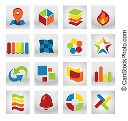 ruchomy, zastosowanie, abstrakcyjny, logo