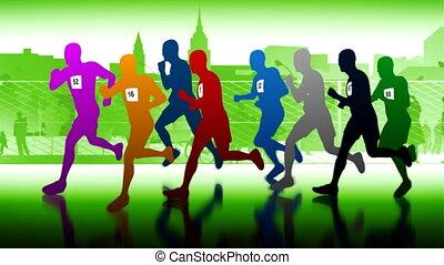 runners., maraton
