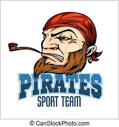 rura, bandana, pirat, maskotka