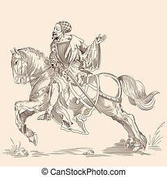 rycerz, horse.