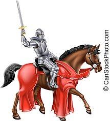 rycerz, koń, dzierżawa, miecz