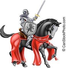 rycerz, koń
