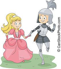 rycerz, księżna