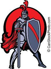 rycerz, tarcza, miecz, maskotka