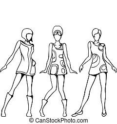 rys, dziewczyny, mod