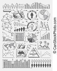 rys, wykresy, infographics