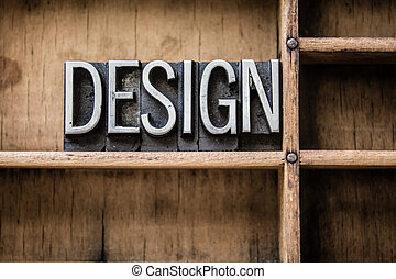rysownik, projektować, typ, letterpress