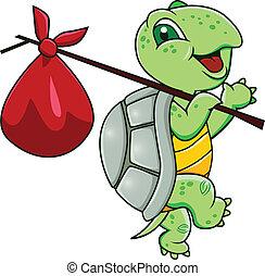 rysunek, żółw