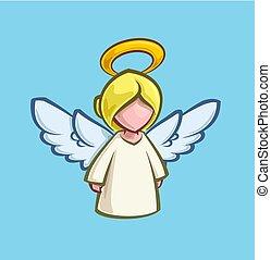 rysunek, -, boże narodzenie, anioł, ikona