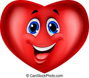 rysunek, czerwone serce
