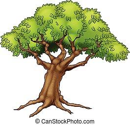 rysunek, drzewo