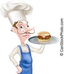 rysunek, hamburger, mistrz kucharski