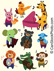 rysunek, ikona, zwierzę, muzyka