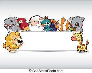 rysunek, karta, zwierzę
