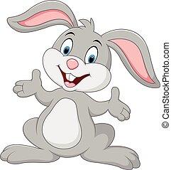 rysunek, królik, przedstawianie, sprytny