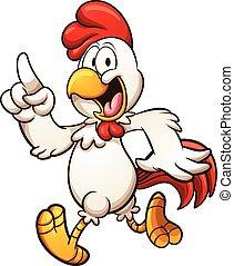 rysunek, kurczak