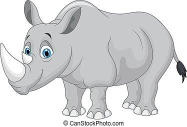rysunek, nosorożec