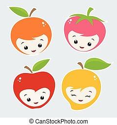 rysunek, owoce