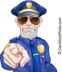 rysunek, policjant
