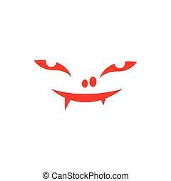rysunek, potwór, litera