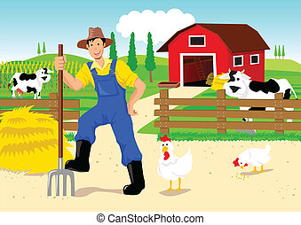 rysunek, rolnik