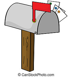 rysunek, skrzynka pocztowa