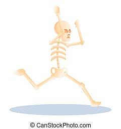 rysunek, styl, ikona, szkielet, wyścigi