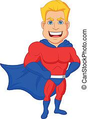 rysunek, superhero, przedstawianie