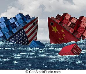 ryzyko, wojna, stany zjednoczony, handel, porcelana