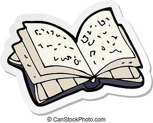 rzeźnik, książka, otwarty, rysunek