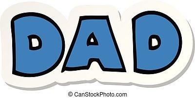rzeźnik, rysunek, słowo, tatuś