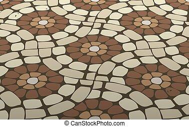 sączkowa podłoga, wektor, mozaika