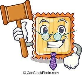 sędzia, płyty, lasagna, rysunek, obsłużony