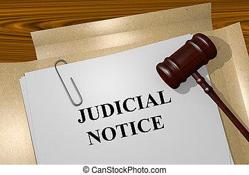 sędziowski, zawiadomienie, pojęcie
