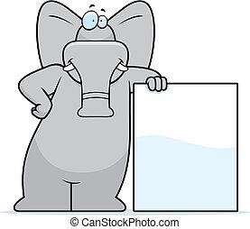 słoń, nachylenie