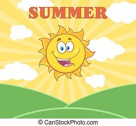 słońce, światło słoneczne, szczęśliwy