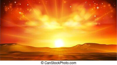 słońce, krajobraz, zachód słońca, wschód słońca, tło, niebo