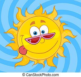 słońce, litera, rysunek, maskotka
