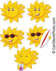 słońce, litera, rysunek