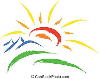 słońce, symbol, natura