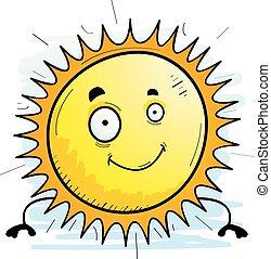 słońce, uśmiechanie się, rysunek