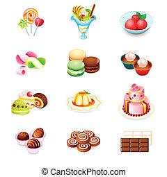 słodycze, ikony