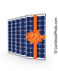 słoneczny, concept., energia